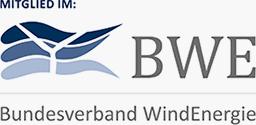 Wir sind Mitglied im BWE - Bundesverband WindEnergie